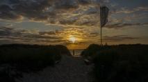 Sonenuntergangsstimmung beim Camping an den Stranddünen
