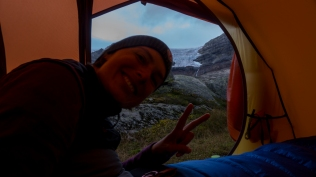 Gute Stimmung im Schatten des Gletschers