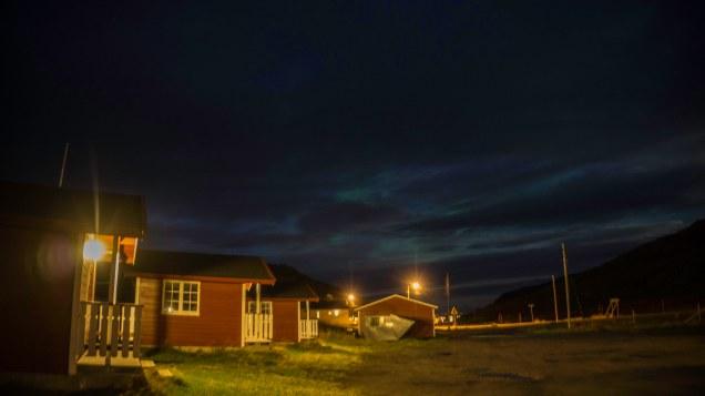Kleine Polarlichtshow am Abend